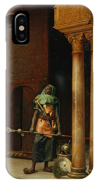Columns iPhone Case - The Harem Guard  by Ludwig Deutsch