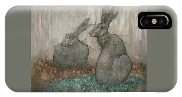 IPhone Case featuring the painting The Hare's Den by Steve Mitchell