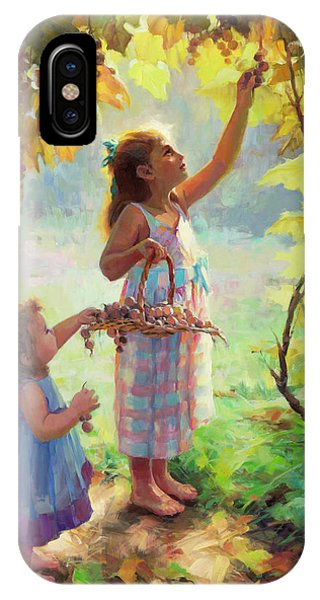 Arched iPhone Case - The Harvesters by Steve Henderson