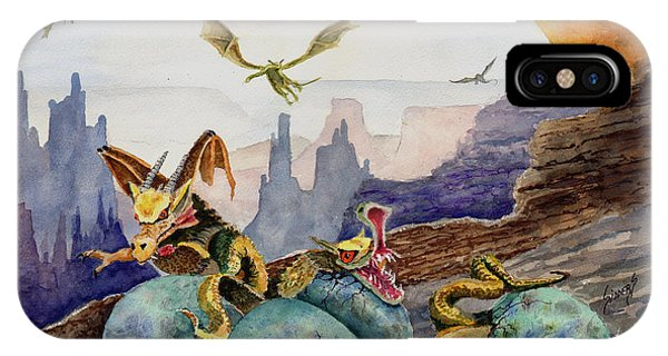 IPhone Case featuring the painting The Hatchlings by Sam Sidders