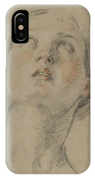 Baroque iPhone Case - The Head Of A Woman Looking Up by Guido Reni