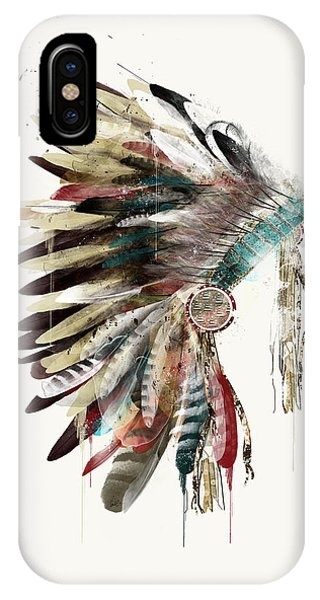 American Indian iPhone Case - The Headdress by Bri Buckley