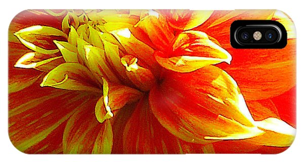 The Heart Of A Dahlia #2 IPhone Case