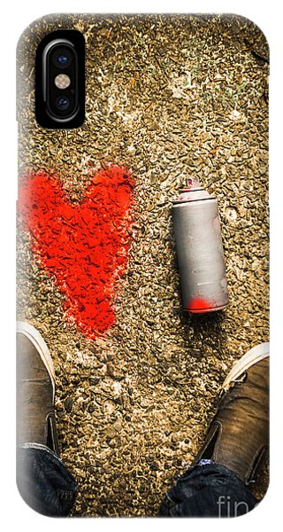 Red Heart iPhone Case - The Heart Of A Vandal by Jorgo Photography - Wall Art Gallery