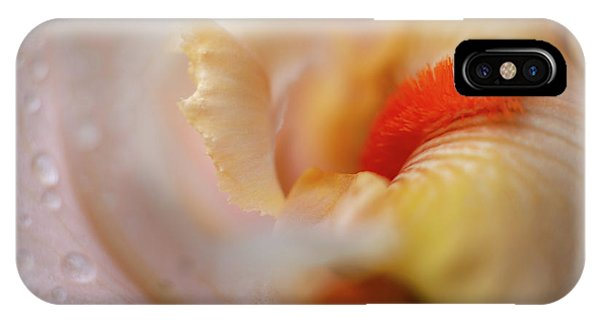 IPhone Case featuring the photograph The Heart Of A Yellow Iris by Francisco Gomez
