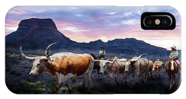 Texas Longhorns Blue IPhone Case