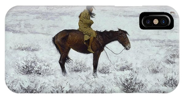 American Southwest iPhone Case - The Herd Boy by Frederic Remington