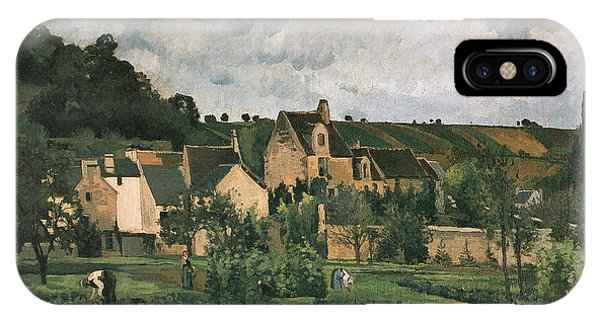 At Work iPhone Case - The Hermitage At Pontoise by Camille Pissarro