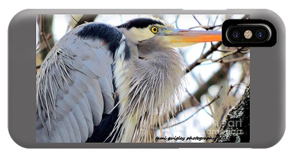 The Heron In Winter  IPhone Case