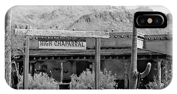 The High Chaparral Set With Sign Old Tucson Arizona 1969-2016 IPhone Case