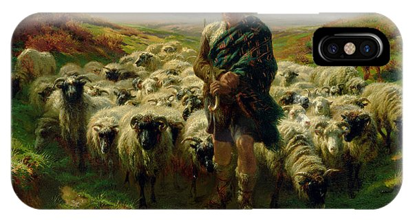 Country iPhone Case - The Highland Shepherd by Rosa Bonheur