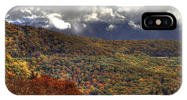 The Highway Thru The Clouds Blue Ridge Parkway IPhone Case