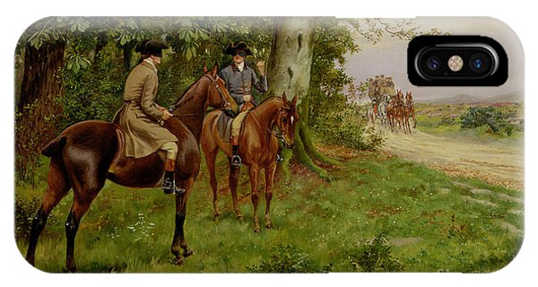 Cunning iPhone X Case - The Highwaymen by George Derville Rowlandson