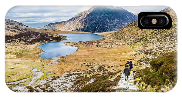 IPhone Case featuring the photograph The Hike Back Down by Nick Bywater