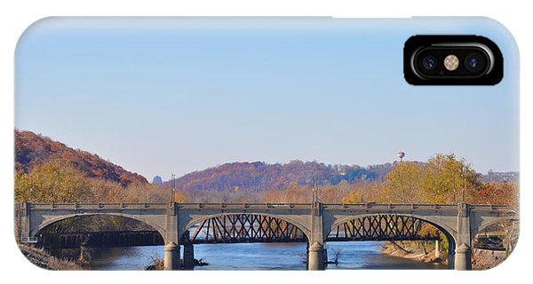 The Hill To Hill Bridge - Bethlehem Pa IPhone Case
