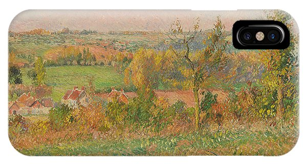 Airy iPhone Case - The Hills Of Thierceville Seen From The Country Lane by Camille Pissarro