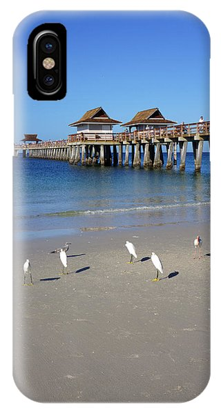 The Historic Naples Pier IPhone Case