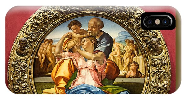 The Holy Family - Doni Tondo - Michelangelo IPhone Case