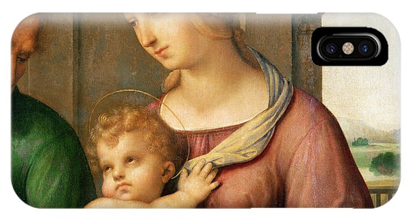 Raphael iPhone Case - The Holy Family by Raphael