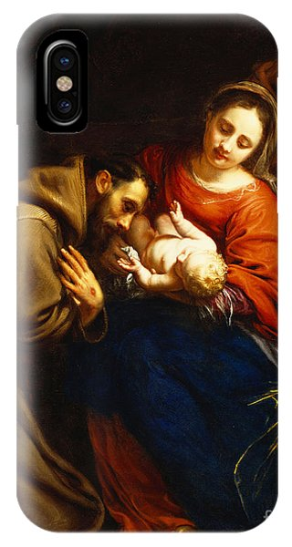 The Holy Family With Saint Francis IPhone Case