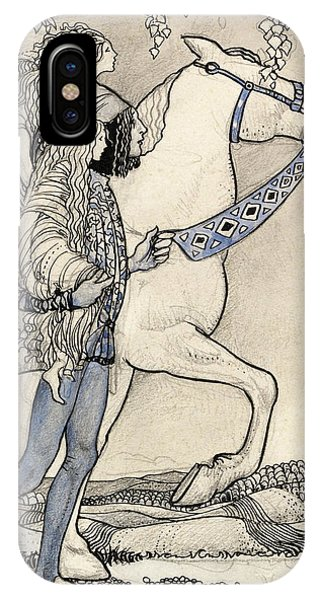 Swedish Painters iPhone Case - The Horse He Led At The Bit by John Bauer