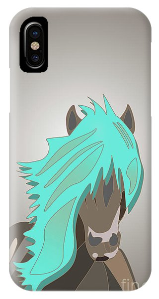 The Horse With The Turquoise Mane IPhone Case