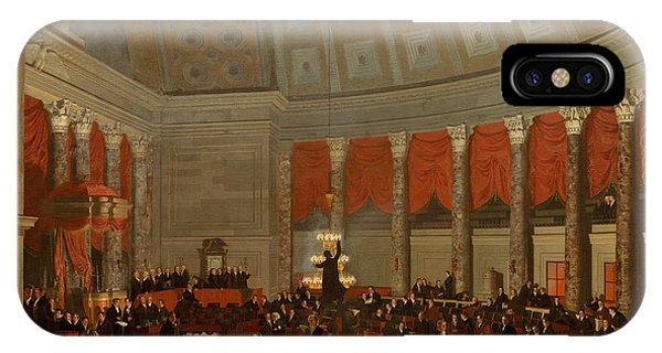 Capitol iPhone Case - The House Of Representatives by Samuel Finley Breese Morse