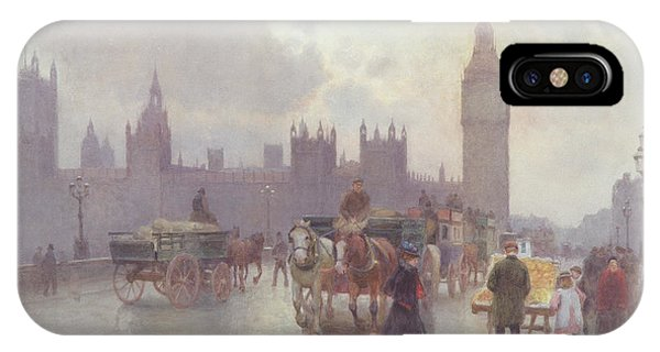 Clock iPhone Case - The Houses Of Parliament From Westminster Bridge by Alberto Pisa