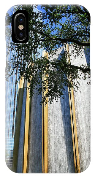 The Houston Water Wall And Williams Tower IPhone Case