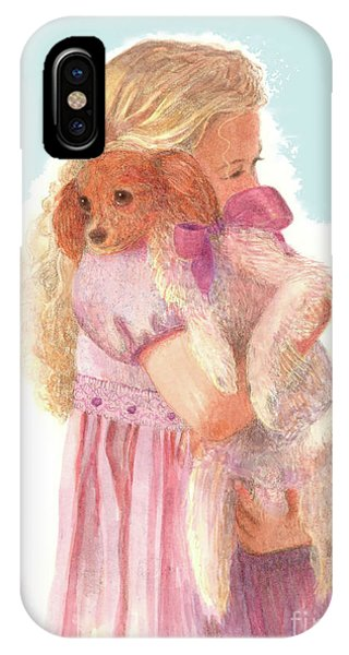 IPhone Case featuring the painting The Hug by Nancy Lee Moran