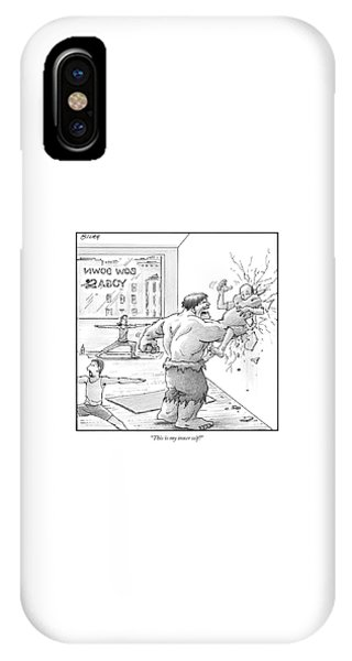 The Hulk Crushes A Man Against A Wall In A Yoga IPhone Case