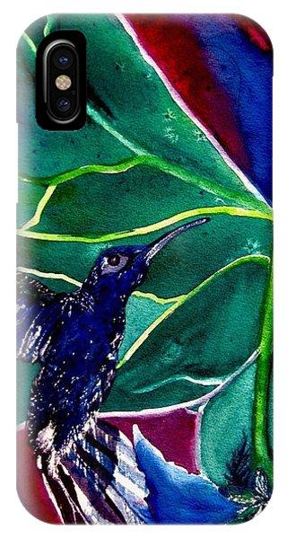 The Hummingbird And The Trillium IPhone Case