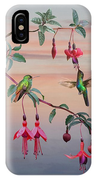 The Hummingbird Fuchsia IPhone Case