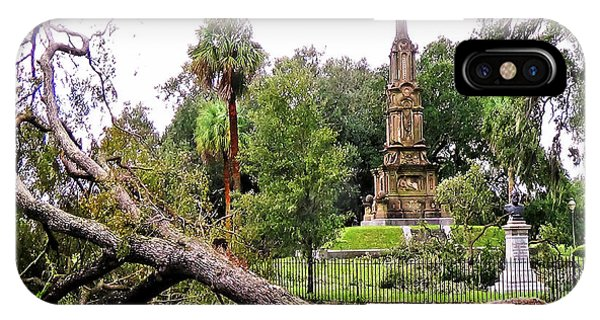 IPhone Case featuring the photograph The Hurricane And The Confederate Monuments by Aberjhani