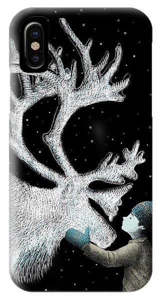 Reindeer iPhone Case - The Ice Garden by Eric Fan