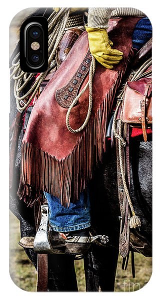 The Idaho Cowboy Western Art By Kaylyn Franks IPhone Case