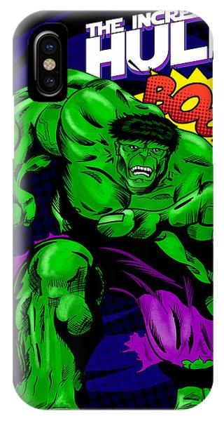 The Incredible Hulk Retro Style Phone Case by Joseph Burke