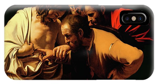 Christianity iPhone Case - The Incredulity Of Saint Thomas by Caravaggio