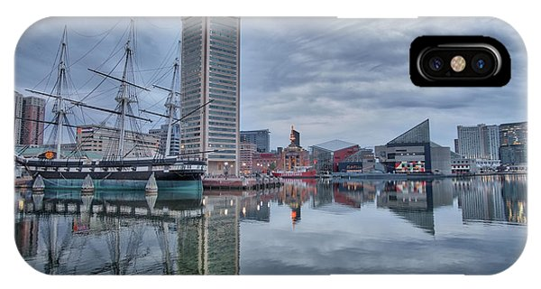 IPhone Case featuring the photograph The Inner Harbor On A Sunday Cloudy Morning by Mark Dodd