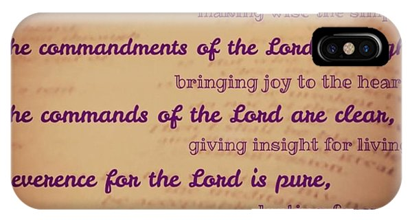 Design iPhone Case - The Instructions Of The Lord Are by LIFT Women's Ministry designs --by Julie Hurttgam