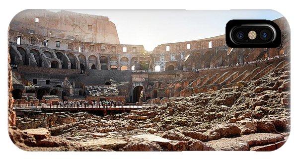 The Interior Of The Roman Coliseum IPhone Case