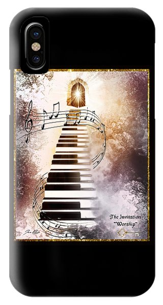 IPhone Case featuring the digital art The Invitation- Worship by Jennifer Page