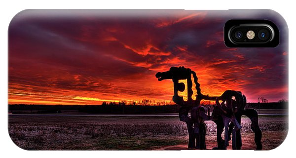 The Iron Horse Red Sky Sunset IPhone Case