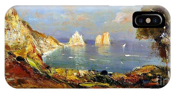 The Island Of Capri And The Faraglioni IPhone Case
