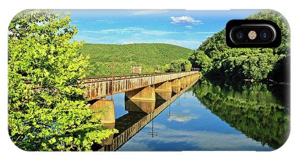 The James River Trestle Bridge, Va IPhone Case