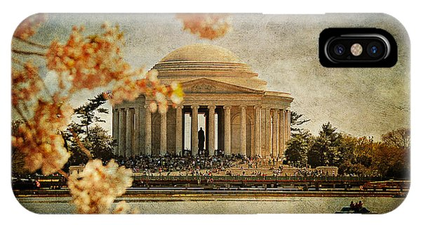 Jefferson Memorial iPhone Case - The Jefferson Memorial by Lois Bryan