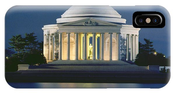 Jefferson Memorial iPhone Case - The Jefferson Memorial by Peter Newark American Pictures