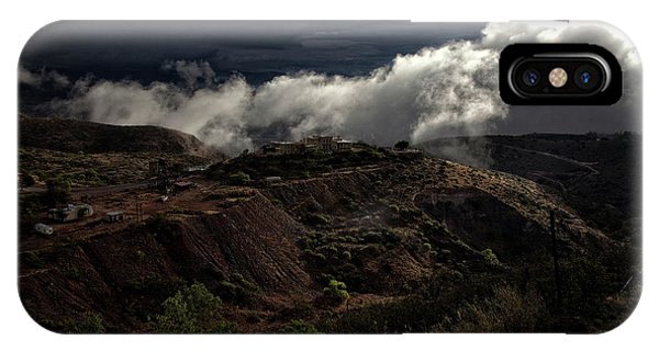 The Jerome State Park With Low Lying Clouds After Storm IPhone Case