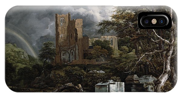 Barren iPhone Case - The Jewish Cemetery by Jacob Isaaksz Ruisdael