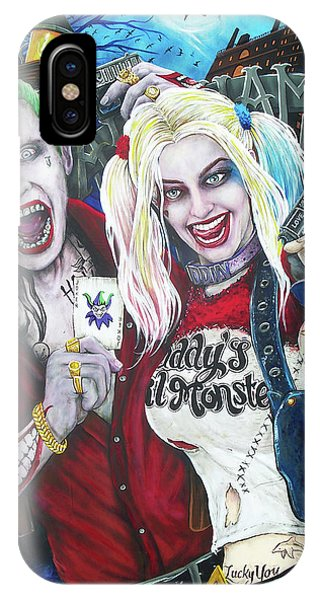 Ben Affleck iPhone Case - The Joker And Harley Quinn by Michael Vanderhoof